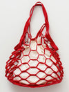 Faux Leather Mesh Bag L
