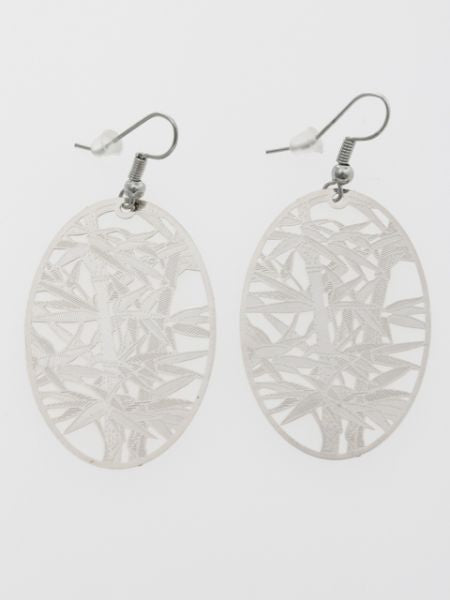 Openwork Bamboo Earrings-Ametsuchi