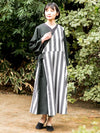 Stripe Crossover Cardigan Dress-Ametsuchi