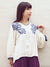 Chrysanthemum Embroidered Top