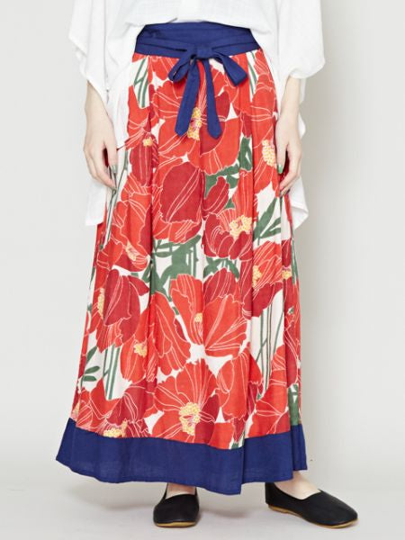 Poppy Ribbon Skirt-Ametsuchi