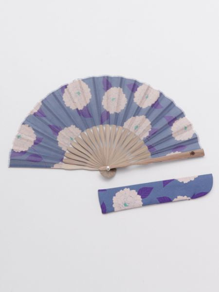 Camellia Foldable Fan with Pouch