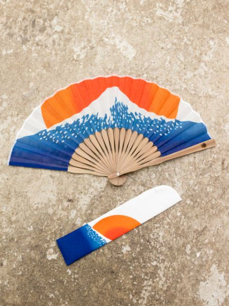 Japan Motif Foldable Fan with Pouch-Ametsuchi