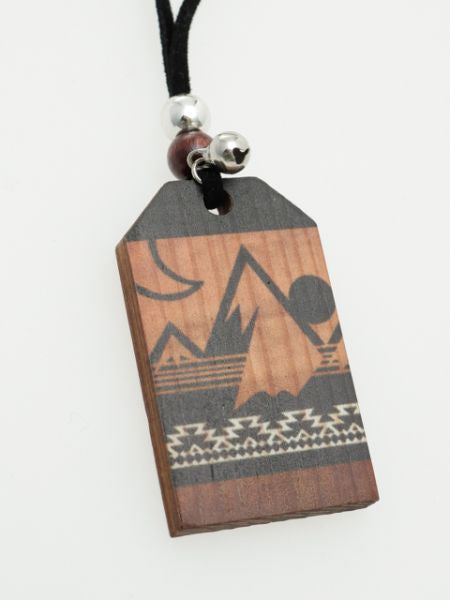 Japanese Amulate Inspired Mountain Necklace-Necklaces-Ametsuchi