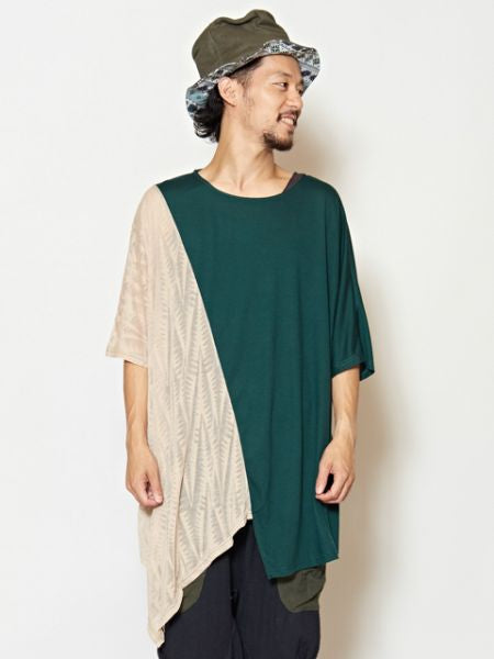 Bi Color Asymmetrical Top