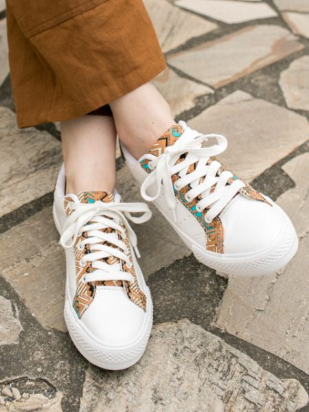 Geometrical Pattern Sneakers