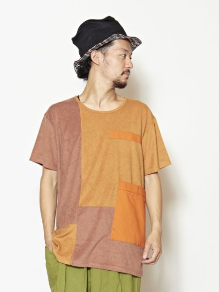 Patchwork Men 's Top-Ametsuchi