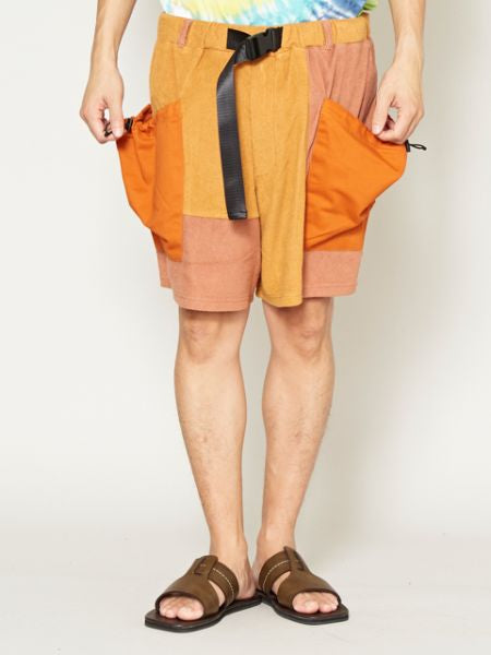 Patchwork Men's Shorts-Ametsuchi