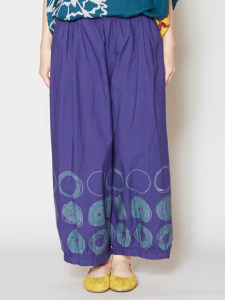 Dot Cotton Cropped Pants