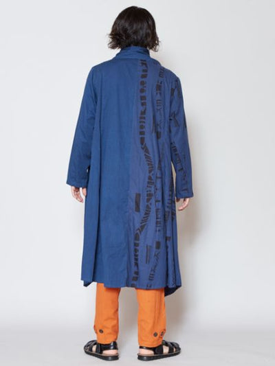 African Art Feel Long Jacket-Cardigans & Outerwear-Ametsuchi