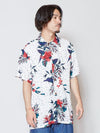 Flower x Dot Pattern Hawaiian Shirt-Shirts-Ametsuchi