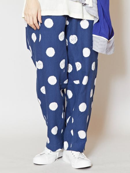 Dot Pattern Easy Cotton Pants