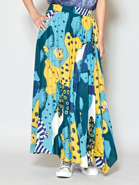 Animal Camo Long Skirt