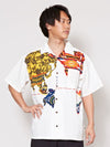 World Map Print Men's Shirt-Ametsuchi