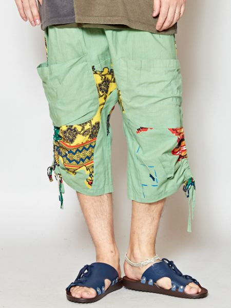 World Map Print Men 's Harem Shorts