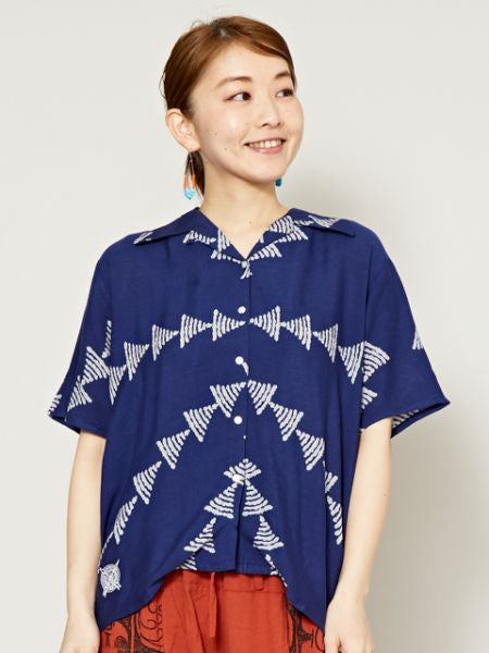 Nature Inspired Pattern Shirt-Ametsuchi