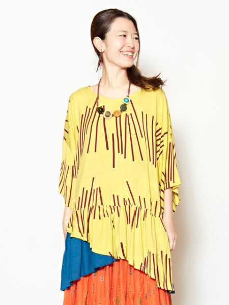 African Inspired Pattern Layered Top-Ametsuchi