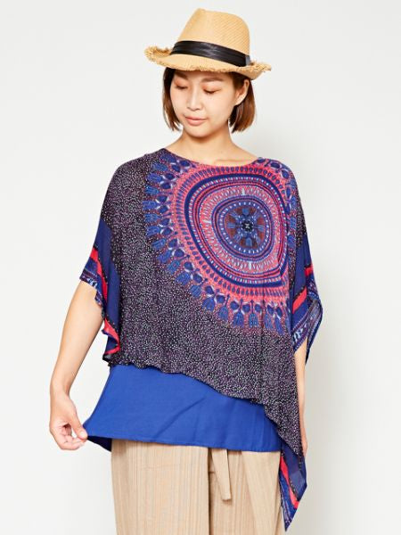 Dashiki Pattern Layered Top