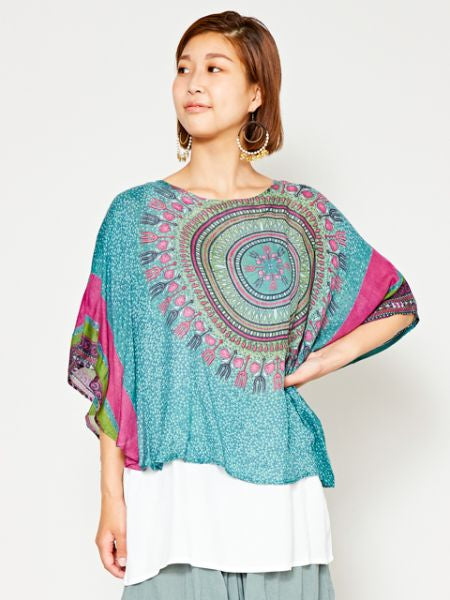 Dashiki Pattern Layered Top-Ametsuchi