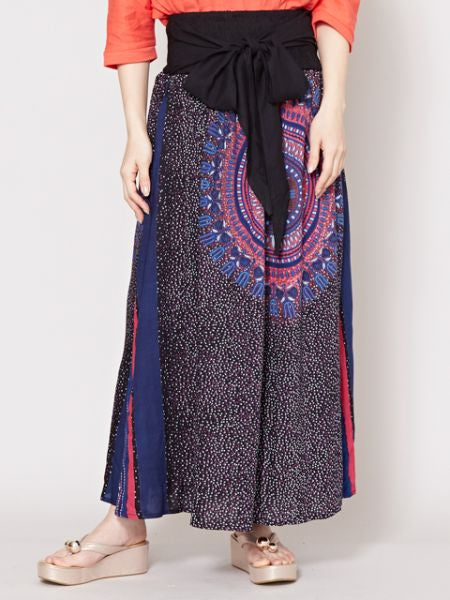 African DAHIKI Inspired Pattern Long Skirt