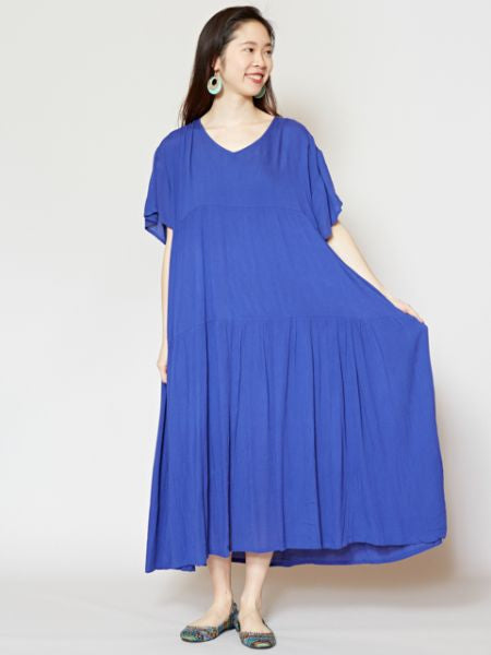 Rayon Crepe Tiered Dress