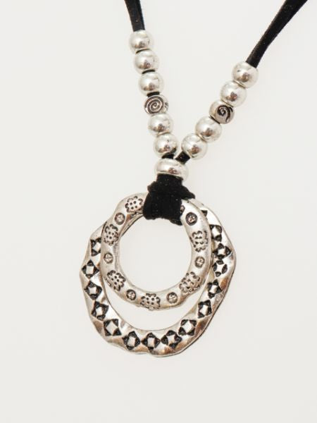 HMONG Tribe Inspired Ring Necklace-Necklaces-Ametsuchi