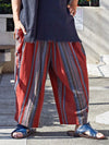 Stripe Cotton Pants-Ametsuchi