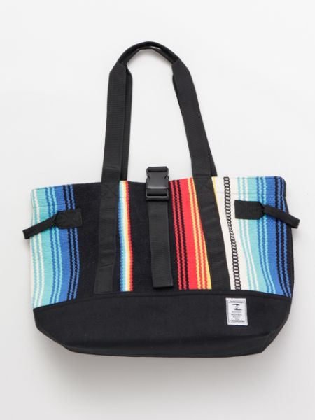 Mexican SARAPE Pattern Hand Woven Rug Tote Bag-Ametsuchi