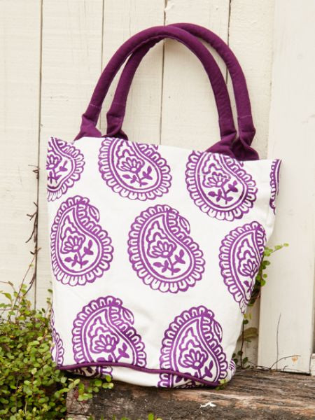 Indian Daily Motif Bucket Tote Bag