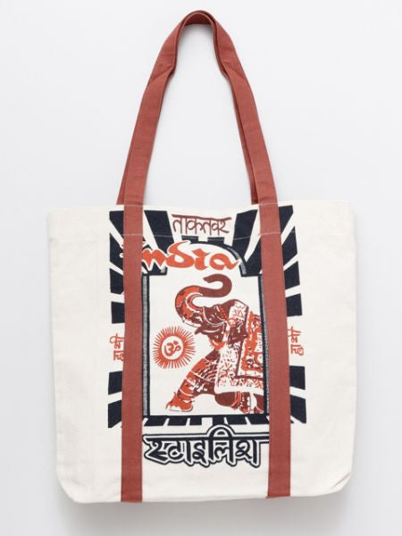 Ethnic Motif Canvas Cotton Tote Bag