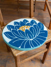 Lotus Pattern Round Cushion-Ametsuchi