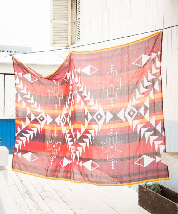 NAVAJO Bed Cover Multi Cloth-Bed Linens-Ametsuchi