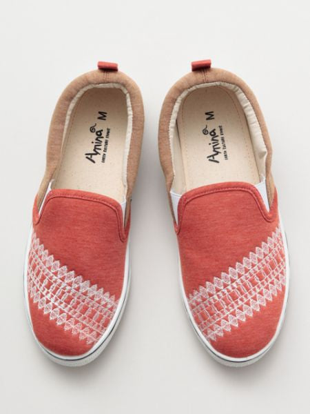 Native American Pattern Embroidered Slip-on Shoes-Shoes-Ametsuchi