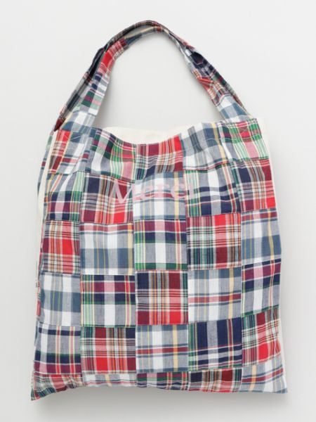 Plaid Patchwork Tote Bag