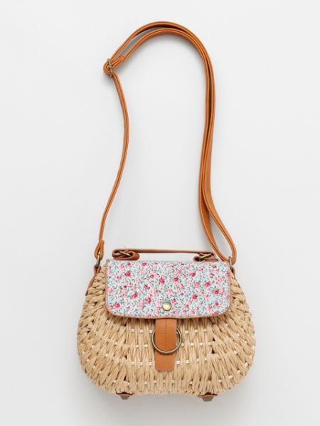 Paper Woven Basket Shoulder Bag