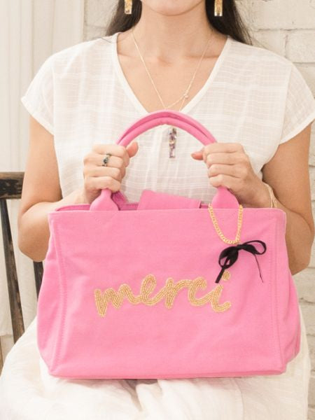 MERCI Canvas Hand Bag