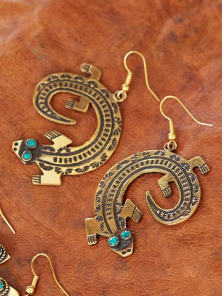 Native American Motif Earrings-Ametsuchi
