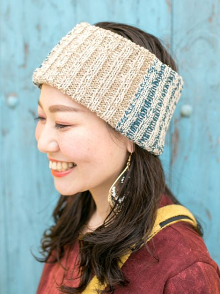 Triple Color Cotton Knitted Hair Band-Hair Accessories-Ametsuchi