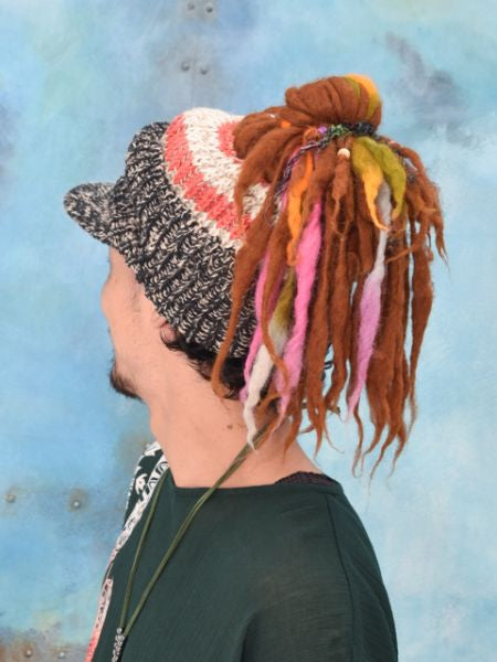 Dread Hair Knitted Cap