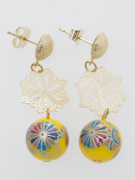 Chrysanthemum Ball Earrings