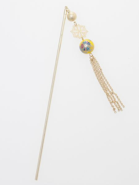 Chrysanthemenball KANZASHI Hair Stick-Ametsuchi