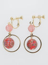 Anting-anting klip bola Arabesque-Ametsuchi