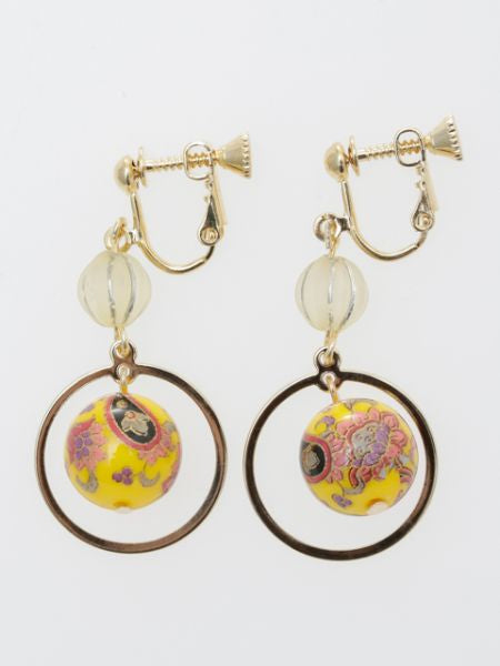 Anting-anting klip bola Arabesque