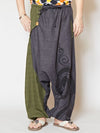 Bi Color Asymmetrical Harem Pants-Ametsuchi