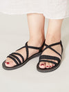 Braid Thong Sandals-Ametsuchi