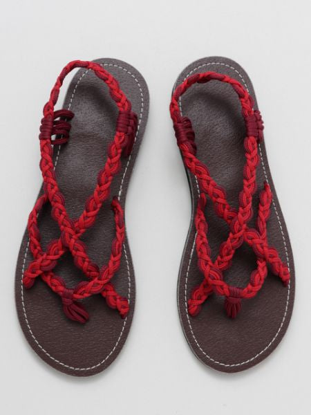 Braid Thong Bohemian Sandals-Ametsuchi