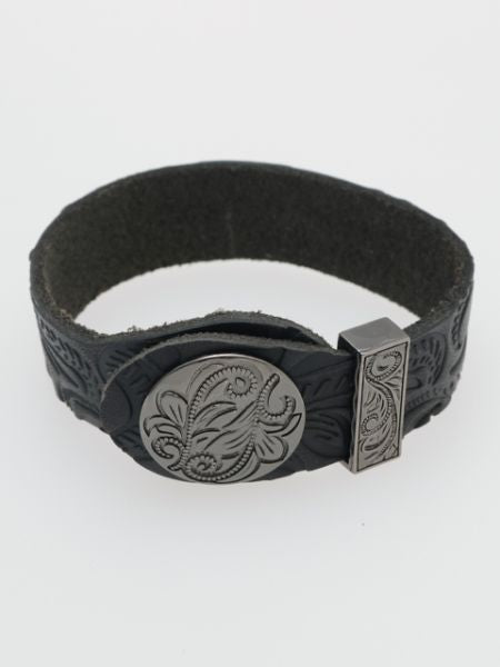 Engraved Leather Bracelet-Ametsuchi