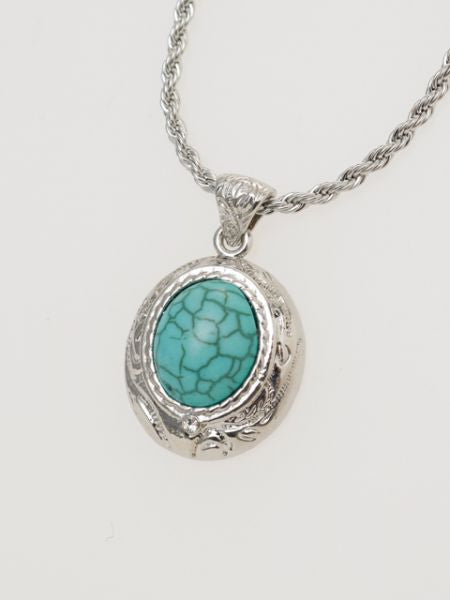 Oval Charm Necklace-Ametsuchi