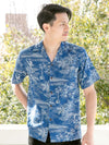 TWO PALMS Retro Style HAWAIIAN Shirt-Ametsuchi