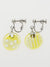 OHAJIKI Flat Marble Clip Earrings